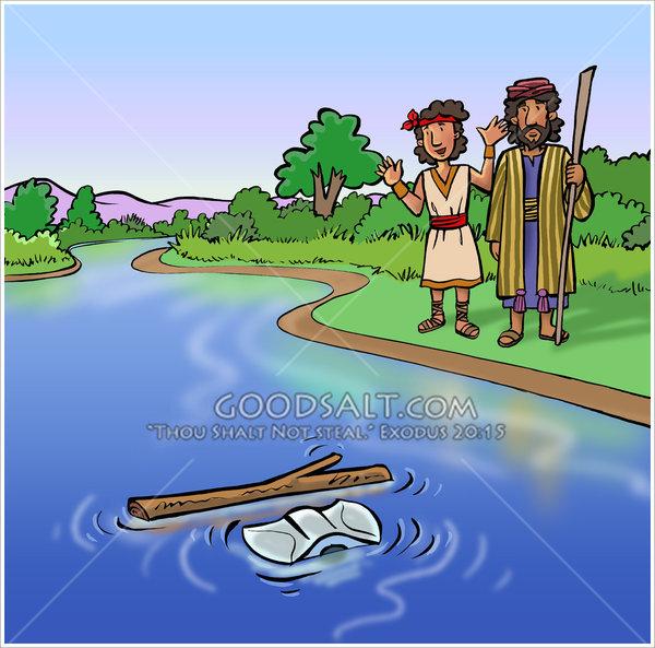 Elisha the floating axehead. Ax clipart axe head
