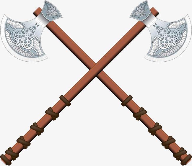 Two axes cross ancient. Ax clipart axe