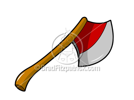 Picture royalty free hatchet. Ax clipart cartoon
