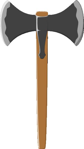 Double tranchant axe clip. Ax clipart cartoon