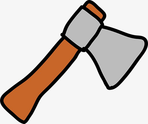 Ax clipart cartoon. Hand painted tool png