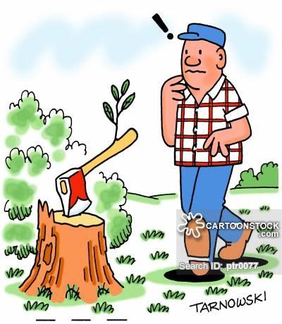 Ax clipart chop wood. Chopping cartoons and comics