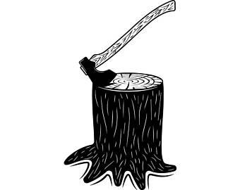 Axe etsy lumberjack tool. Ax clipart chop wood