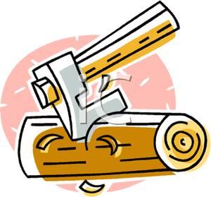 Ax clipart chop wood. Image an axe chopping