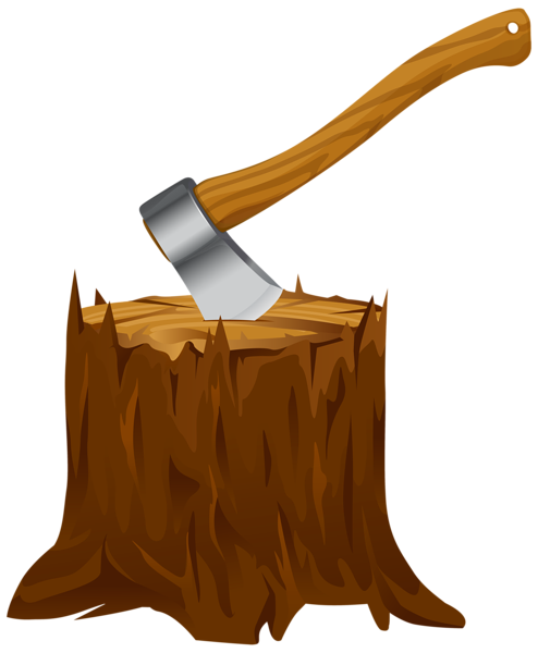 Carpentry clipart chop wood. Tree stump with axe