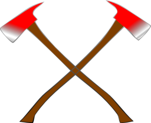 Clip art at clker. Axe clipart crossed fire