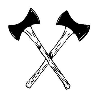 Axe . Ax clipart crossed fire