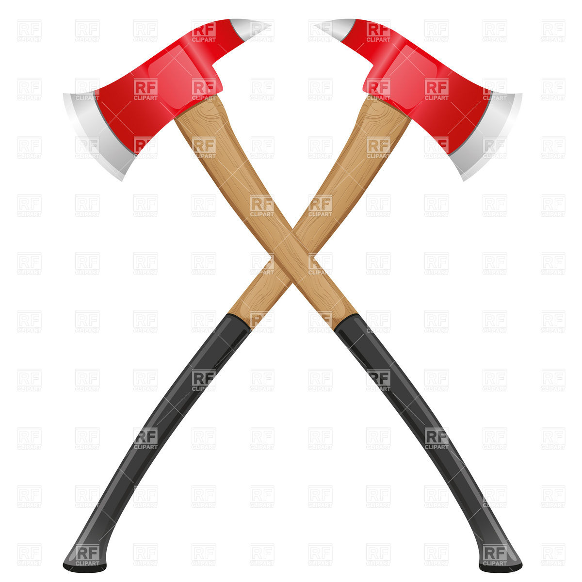 Axes . Ax clipart crossed fire