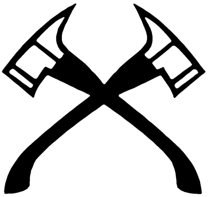 Axe clipart crossed fire. Download axes firefighter halligan