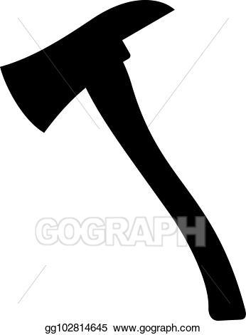 Vector stock axe illustration. Ax clipart fire ax