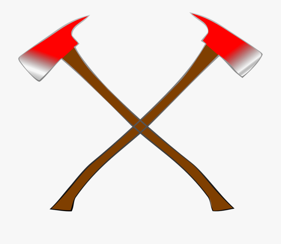 Ax clipart fire ax. Axes crossed vikings firemen
