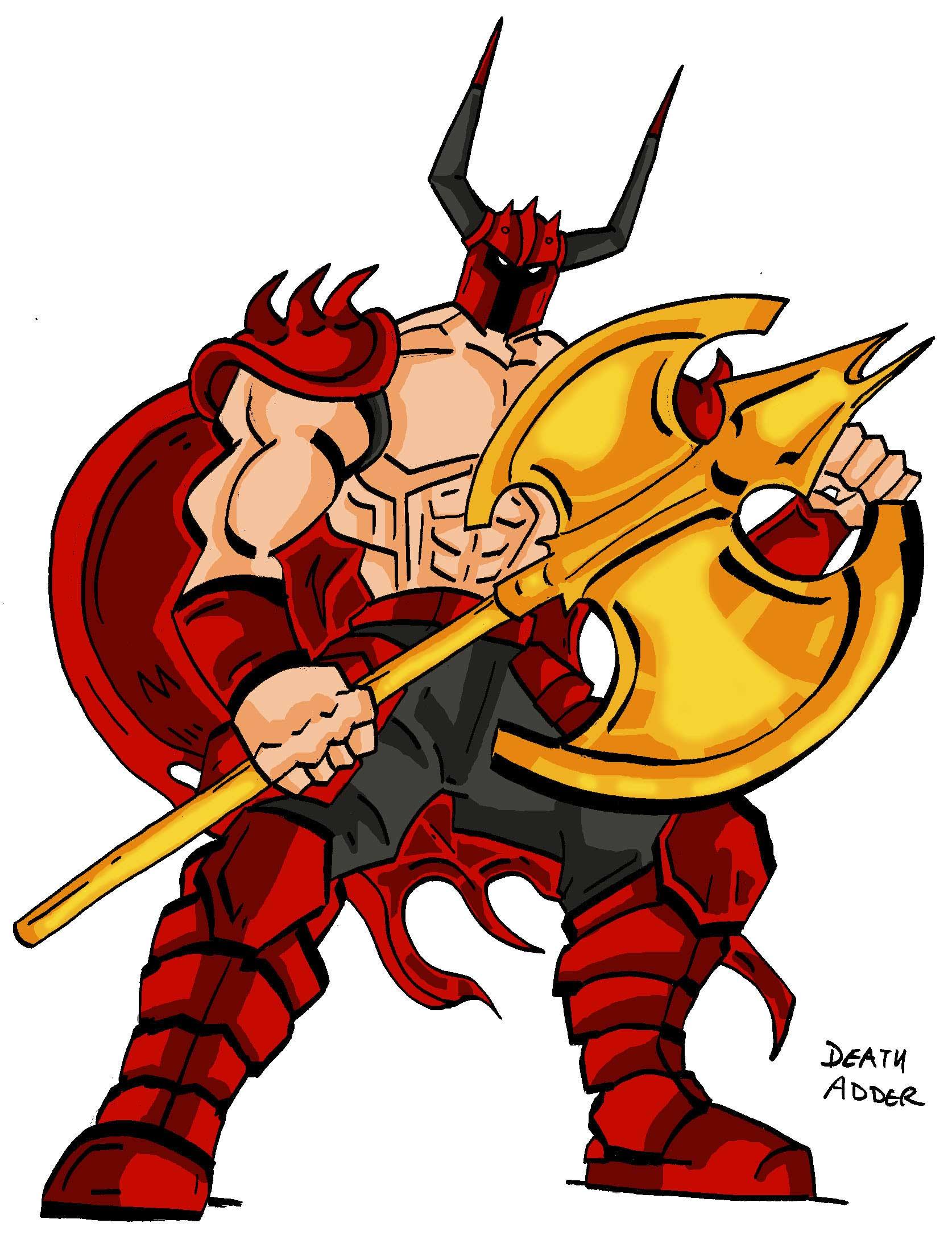 Ax clipart golden axe. The resource death adder
