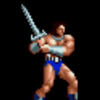 Battler character giant bomb. Ax clipart golden axe