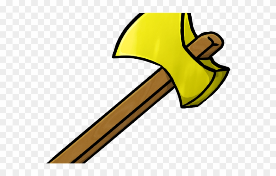 Minecraft png download . Axe clipart gold