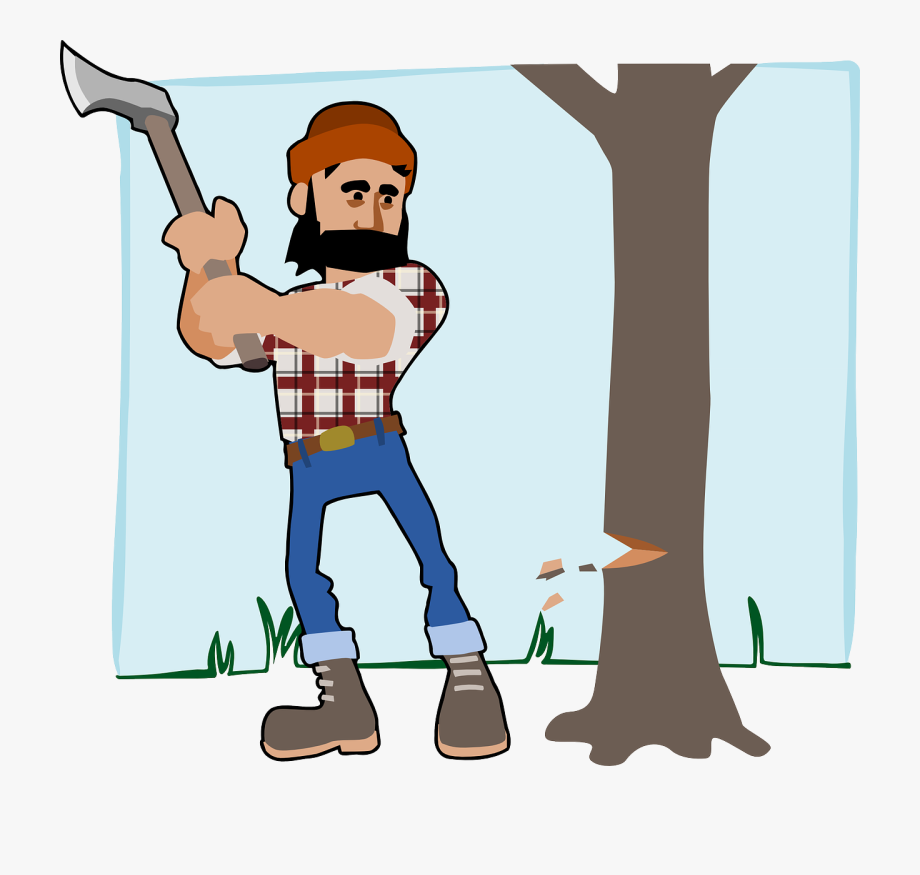Sharpen your ax free. Lumberjack clipart cartoon