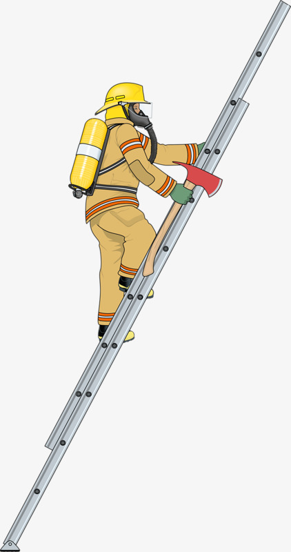 Ax clipart ladder. Workers hand painted cartoon