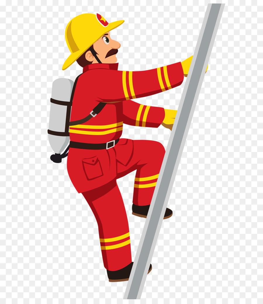 Firefighter fire engine department. Ax clipart ladder
