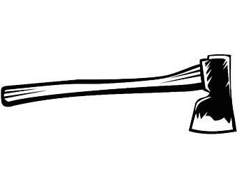 Ax clipart lumberjack. Axe chop etsy tool