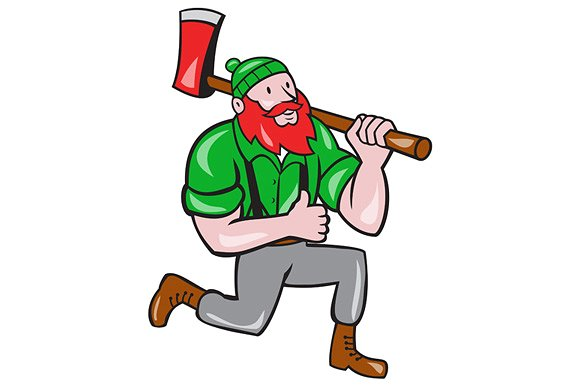 Ax clipart lumberjack. Paul bunyan axe kneeling