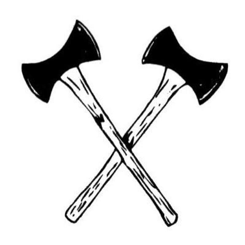 Crossed axes unmounted rubber. Ax clipart lumberjack axe