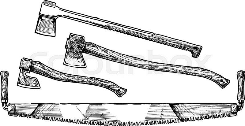 Drawn holy pencil and. Ax clipart lumberjack axe