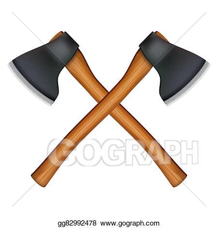 Ax clipart lumberjack axe. Stock illustration symbol