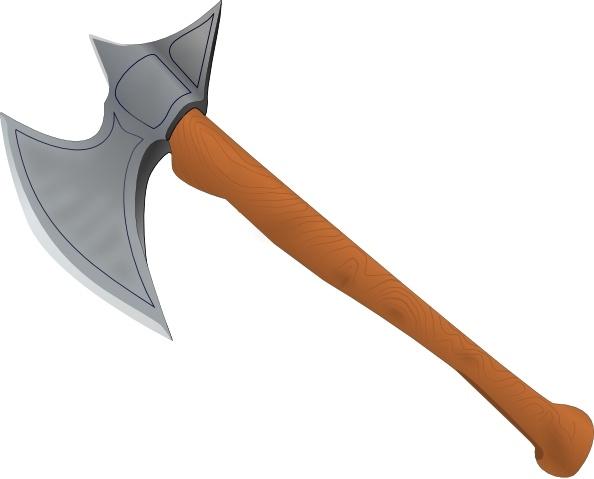 Stefanvonhalenbach battle axe clip. Ax clipart medieval