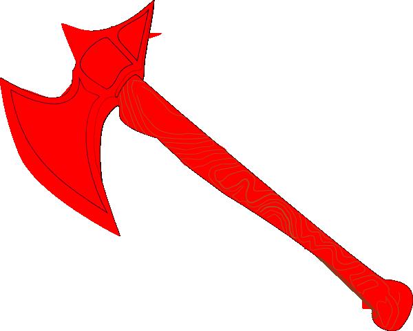 Ax clipart red. Battle axe clip art