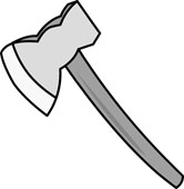 Search results for clip. Ax clipart sharp object