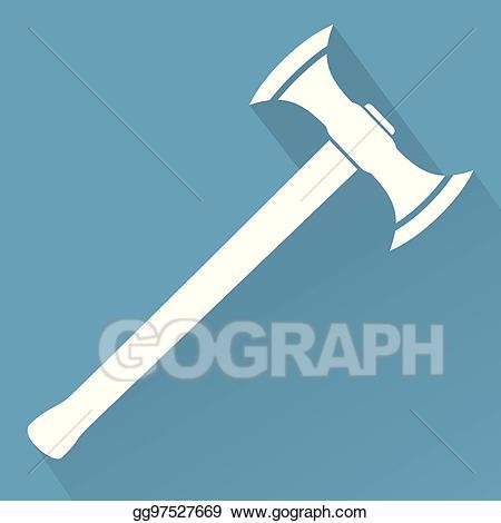 Ax clipart sharp object. Eps illustration medieval battle