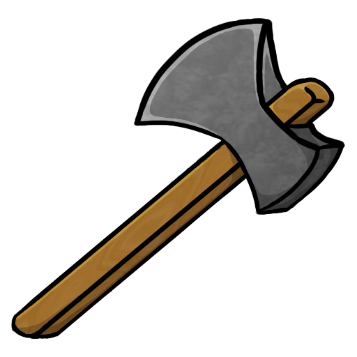 Minecraft icons by chrisl. Ax clipart silver axe