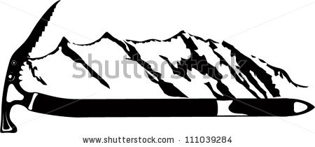 Ax clipart vector. Ice clipground emblem with