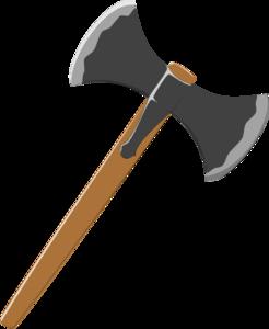 Medieval battle axe free. Ax clipart vector