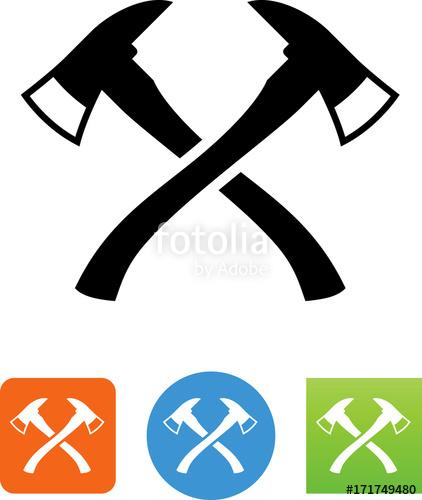Ax clipart vector. Fire axe icon illustration