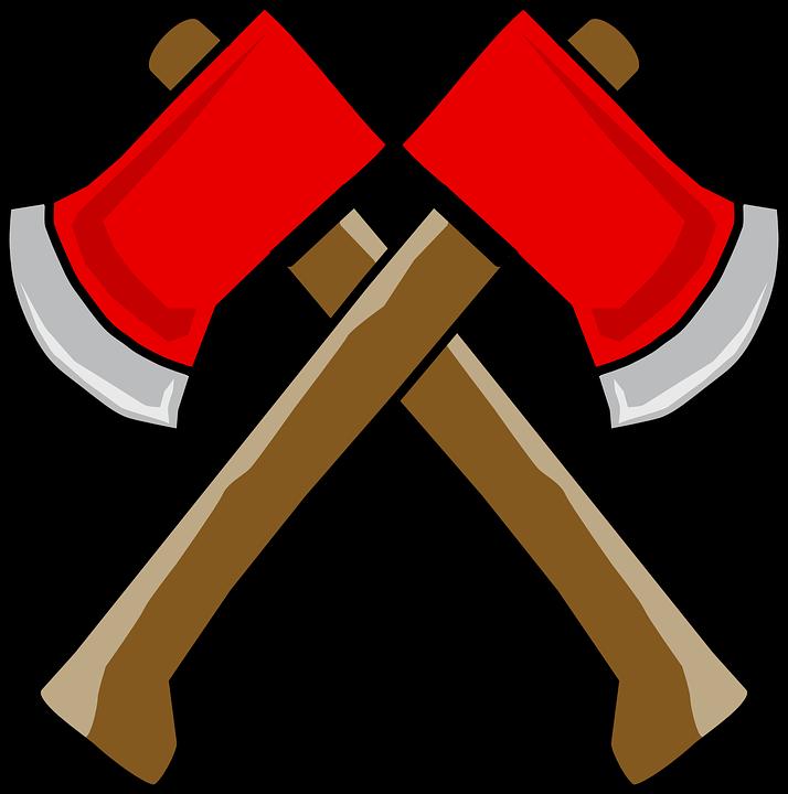 Axe hatchet cartoon symbol. Ax clipart vector