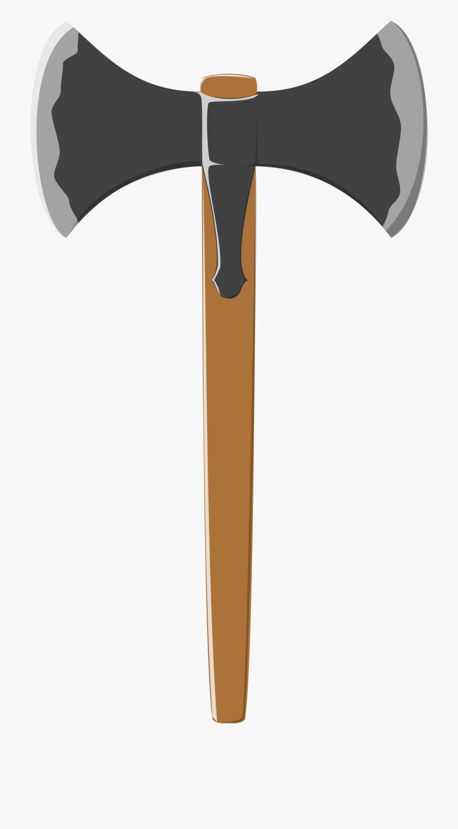 Battle axe double edged. Ax clipart viking