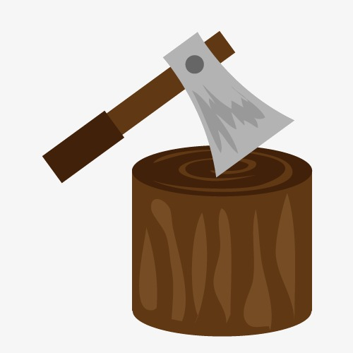 Ax clipart wood axe. On stakes harvesters png