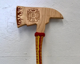 Ax clipart wood axe. Firefighter etsy firefighters award