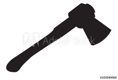 Ax clipart wood axe. Vector illustration of with