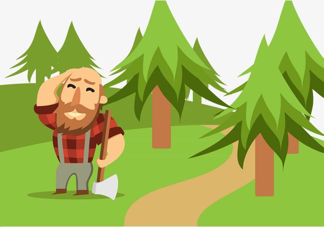 Ax clipart wood cutter. Woodcutter beard forestry moustache