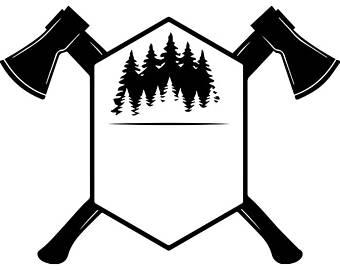 Axe chop etsy lumberjack. Ax clipart wood cutter
