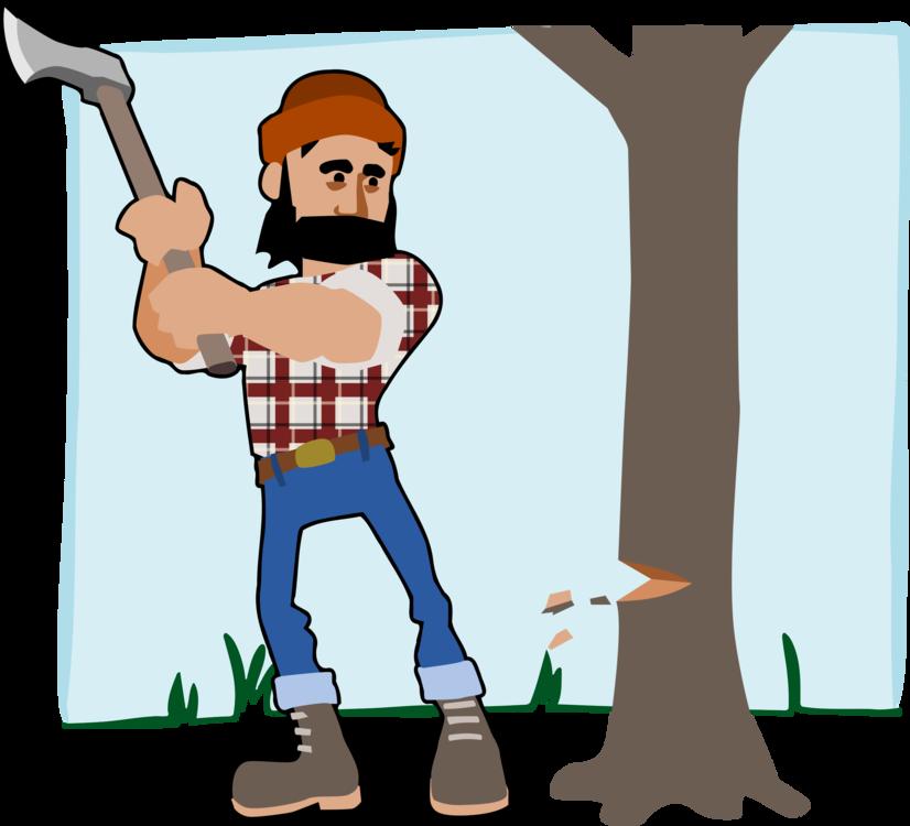 Ax clipart wood cutter. Standing human behavior art