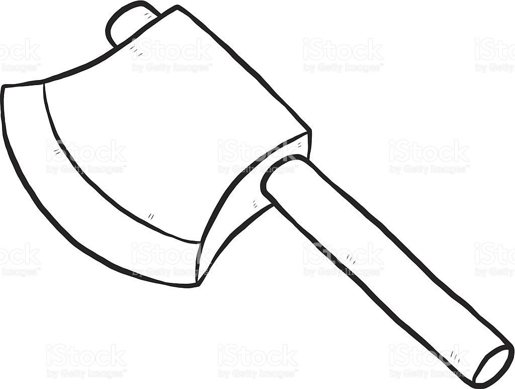 Axe clipart. Black and white letters