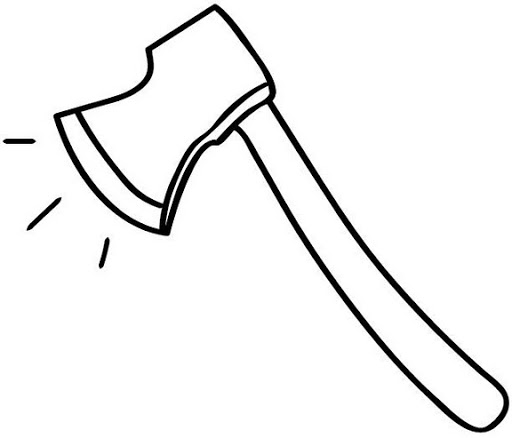 Ax clipart black and white. Axe pencil in color