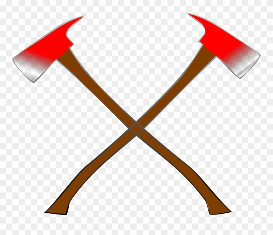 Viking cross axes png. Axe clipart crossed fire