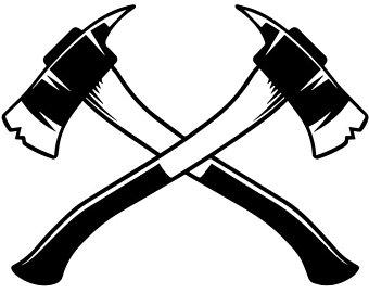 Axe clipart crossed fire. Firefighter svg etsy logo