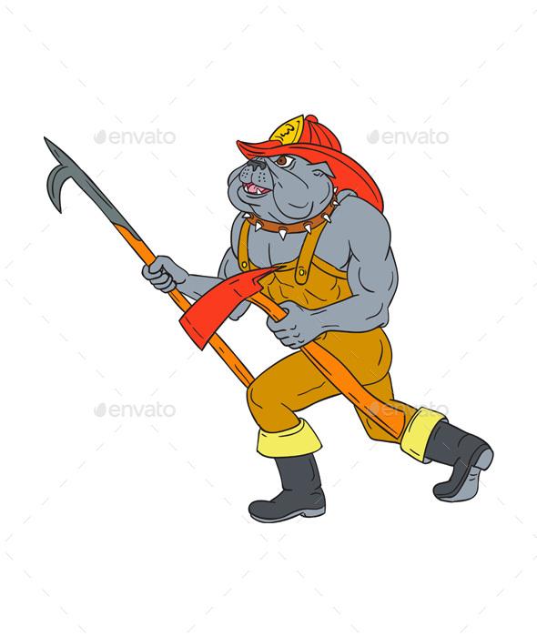Axe clipart firefighter. Bulldog pike pole fire