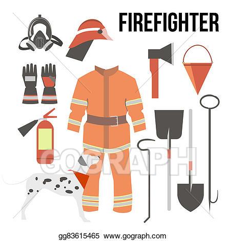 Axe clipart firefighter. Stock illustration fire fighter