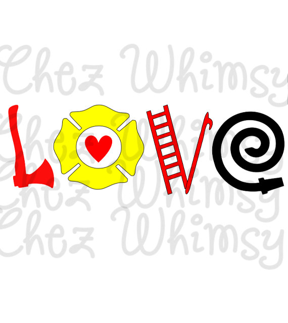 Love svg cutting file. Axe clipart firefighter