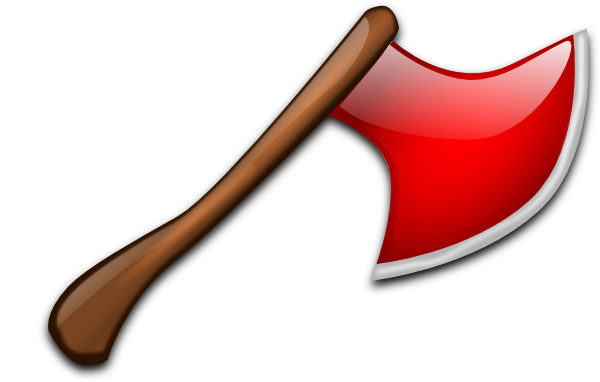 Red clip art at. Ax clipart silver axe